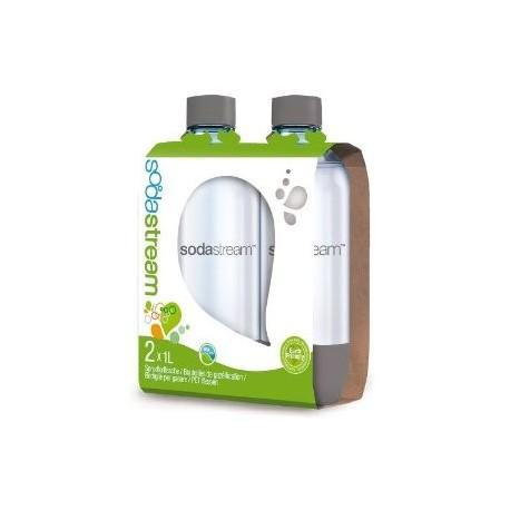 Coppia di Bottiglie Sodastream 1 litro in PET