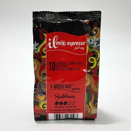 10 capsule Compatibili Lavazza A Modo Mio Il Mio Espresso Sublime