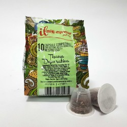 10 Capsule Compatibili Nespresso Tisana Depurativain Foglia